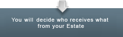 You Will decide who receives what from your Estate